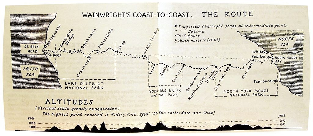 England's Coast to Coast was designed by Fell Walker Arthur Wainwright and is roughly 192 miles from the Irish Sea to the North Sea. He suggests we all find our own routes, which I did by adding another 50 miles peak bagging in the Lake District.