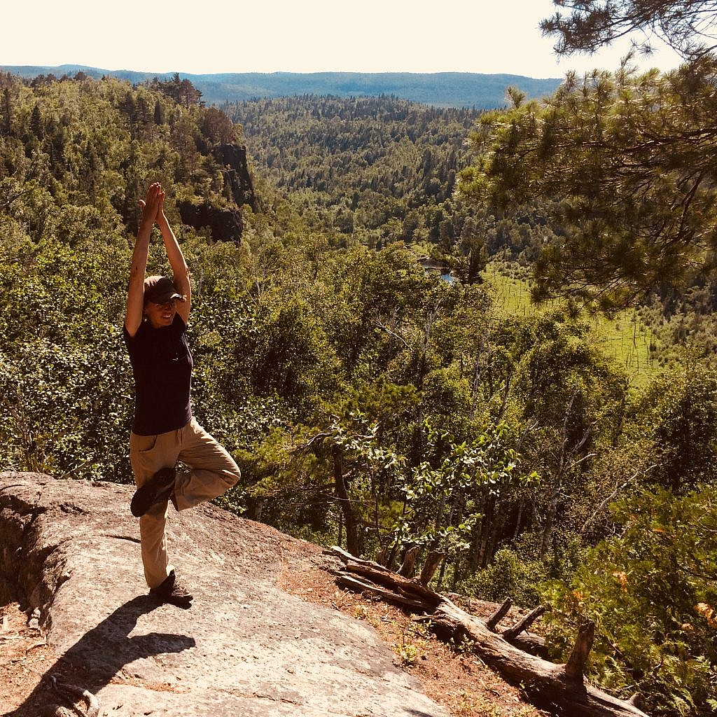 Tree Pose – Tadasana - improves posture and balance, increases flexibility in the ankles and knees as well as the hip joints. It also looks cool.