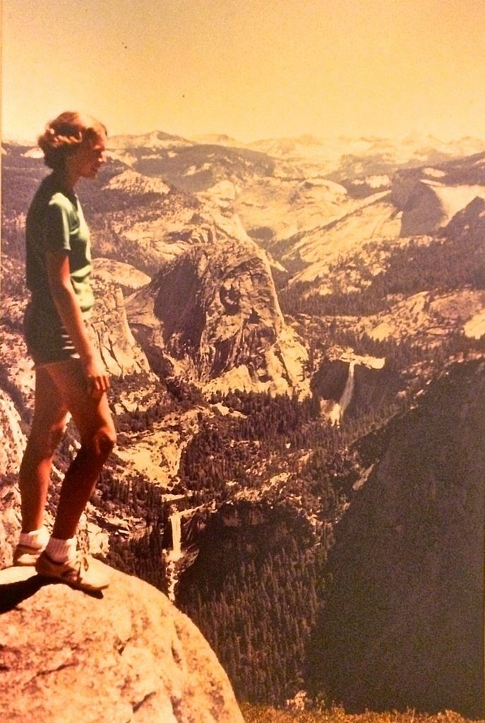 Blissful Hiker in Yosemite at age 13.