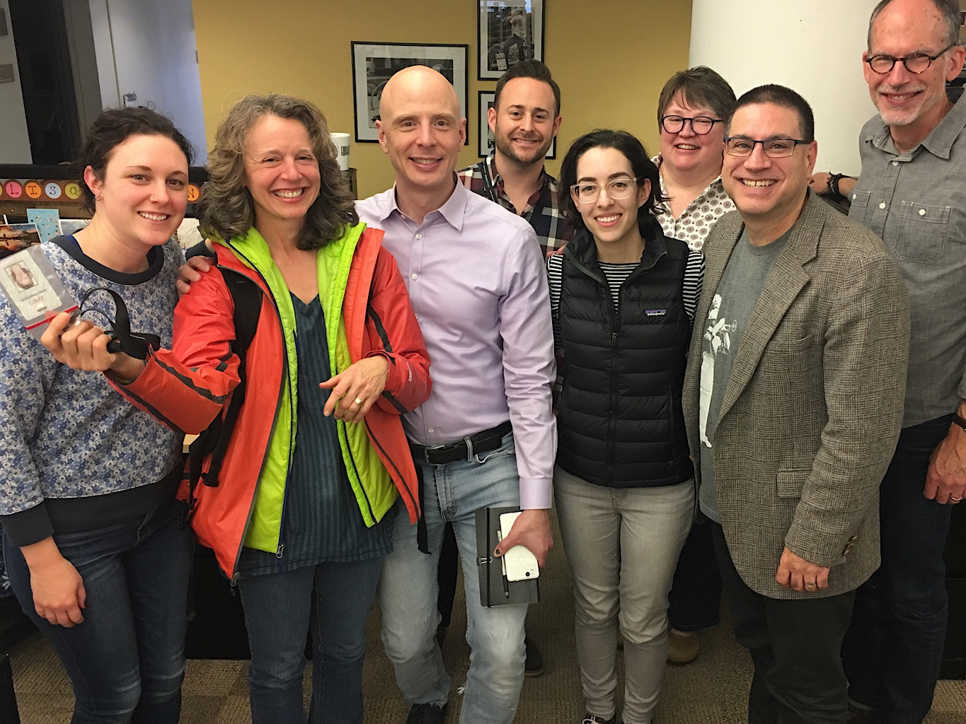My colleagues at Minnesota Public Radio seeing me off.