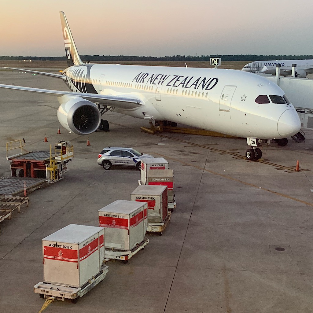 Air New Zealand awaits me in Houston.