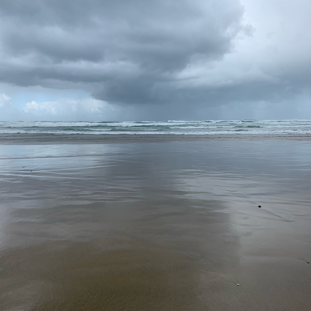 Squalls came in regular intervals on the Ninety Mile Beach.