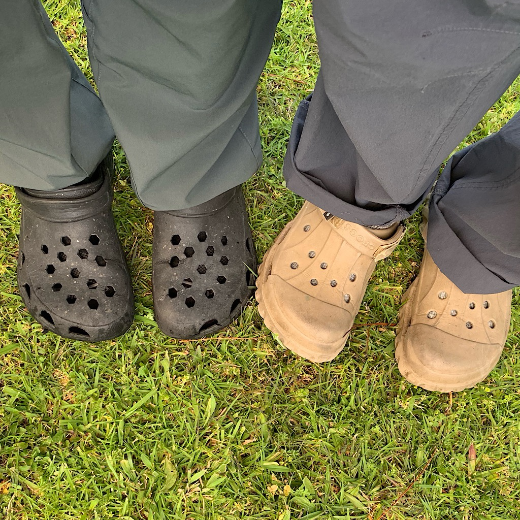 Northland is so damp, everyone needs a few pairs of Crocs.