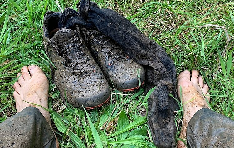 There's nothing like putting wet and muddy shoes on in the morning.