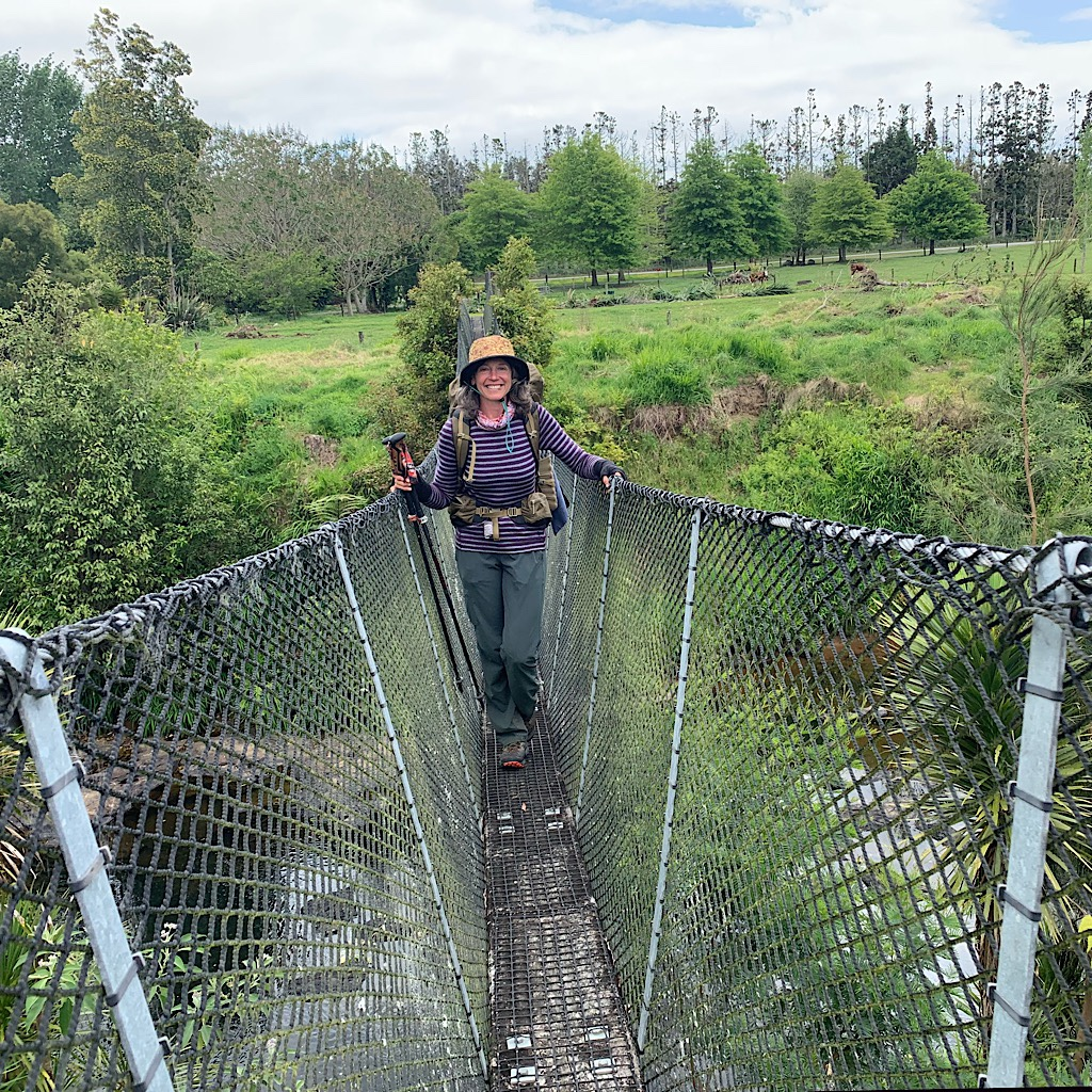 My first suspension bridge. There will be hundreds more to cross as I make my way down the island.