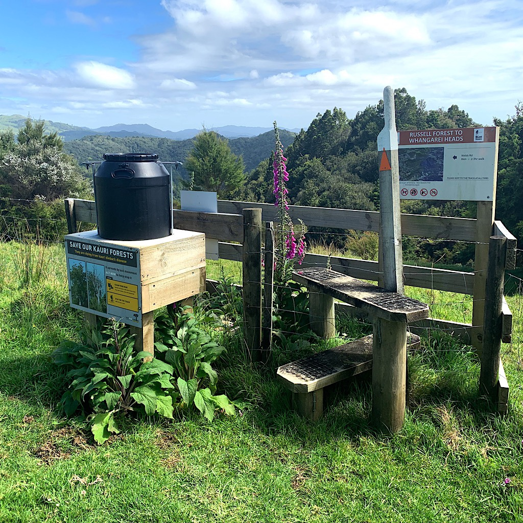 A cleaning station for Kauri Dieback.