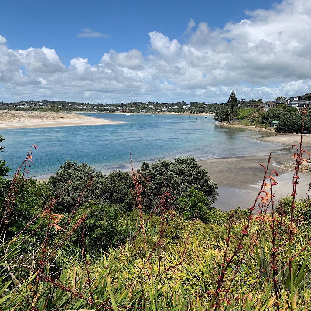 The estuary at Mangawhai cannot be crossed on foot.