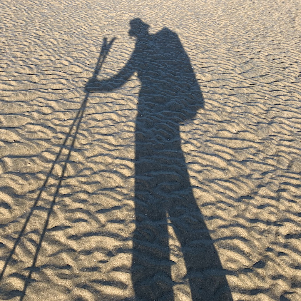 My shadow was my constant companion on the Te Araroa.