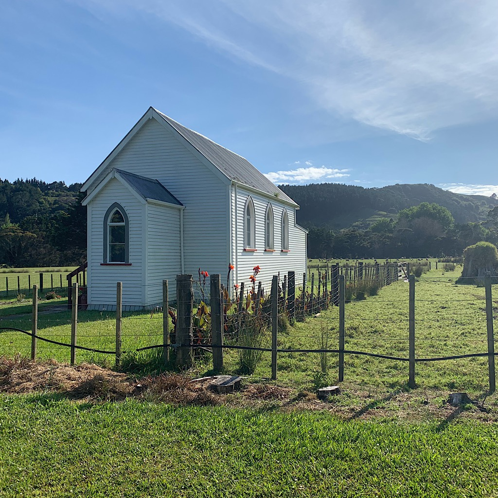 The beautiful old Pakiri church.