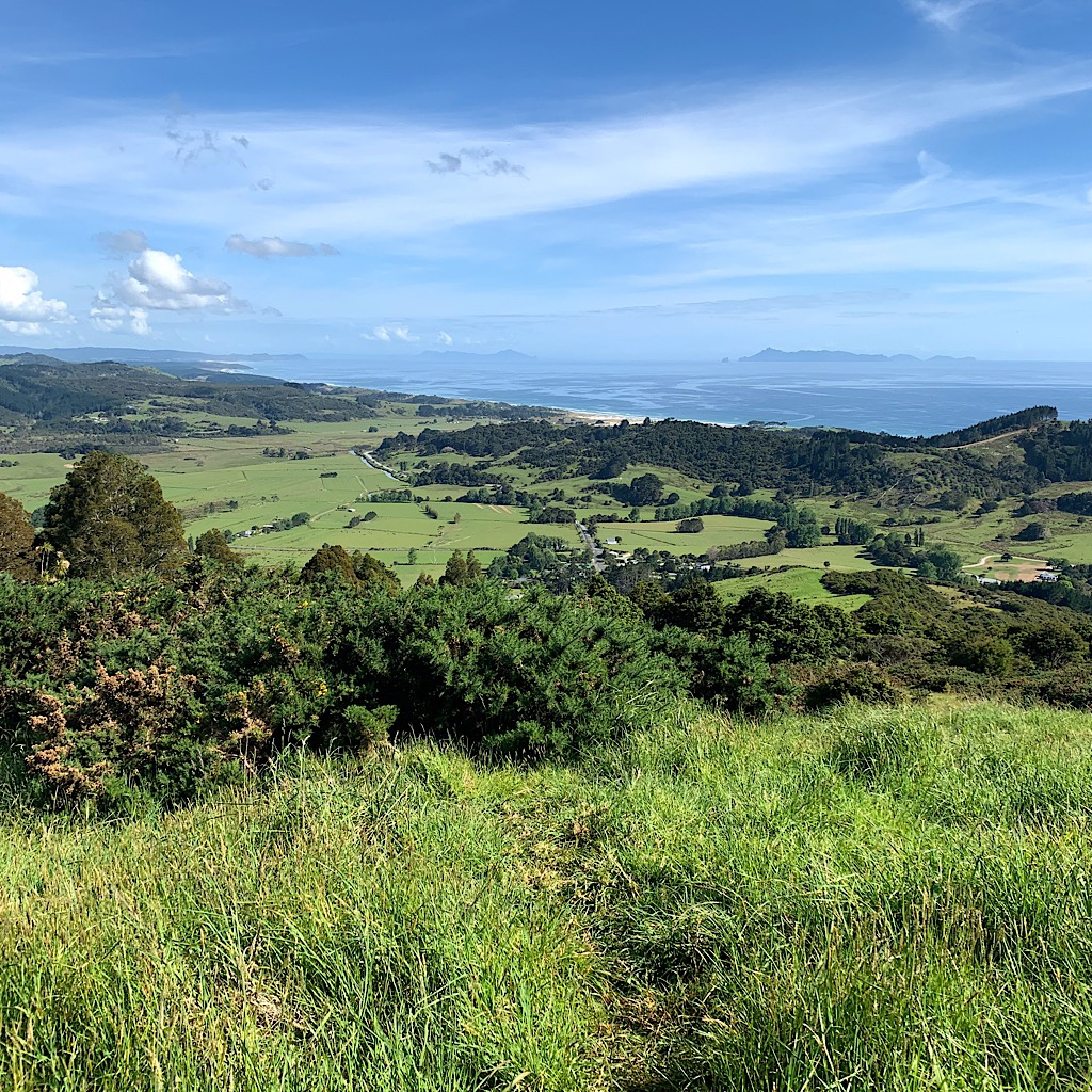 A gorgeous view back to where I've walked from the Mt Tamahunga or Te Hikoi O Te Kiri.