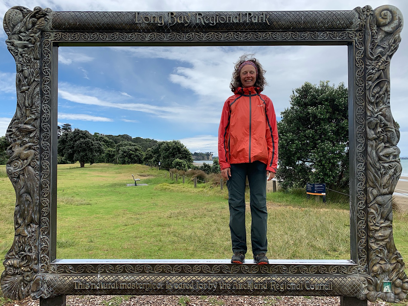 Perfectly framed in Long Bay north of Auckland.