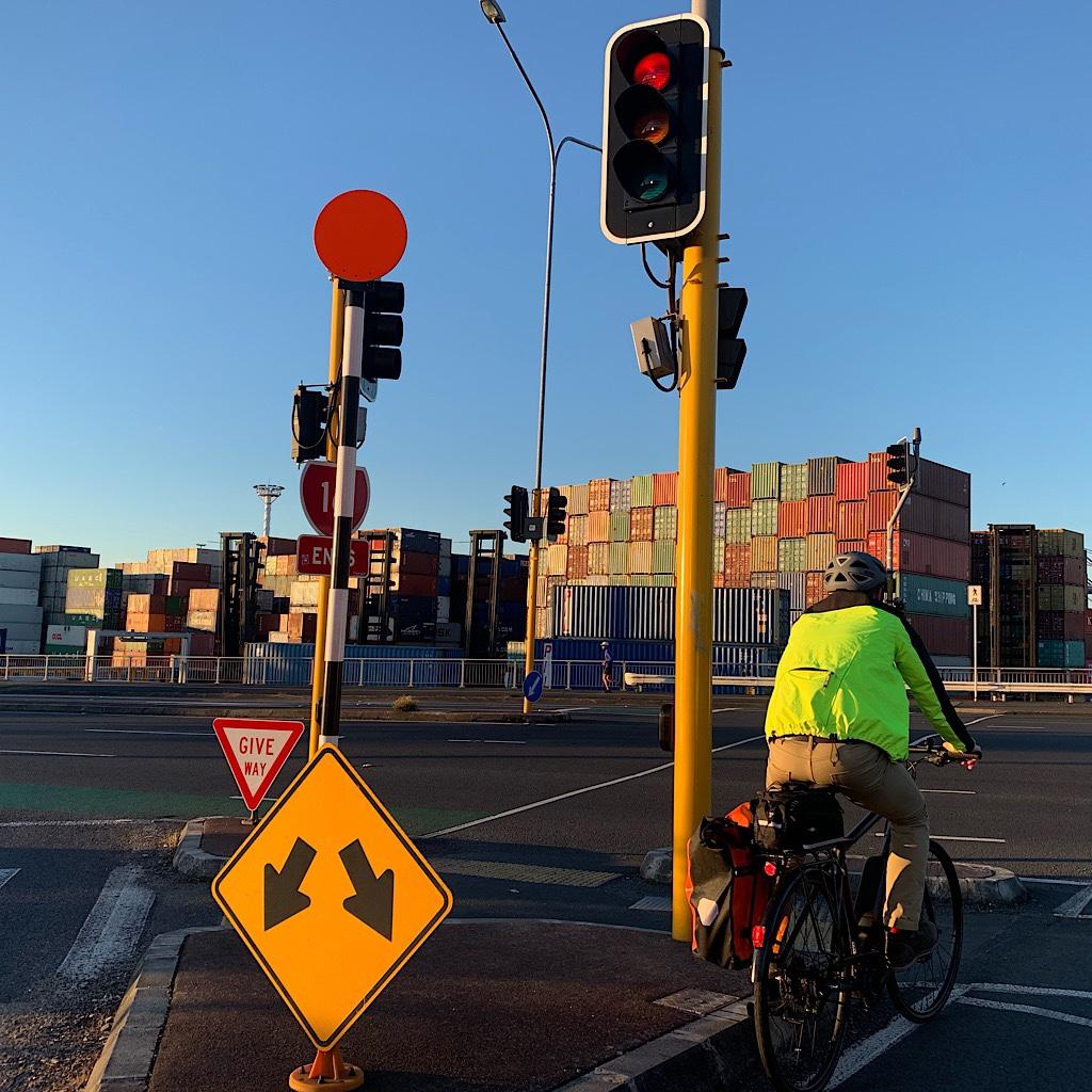 Near the port in Auckland's CBD.