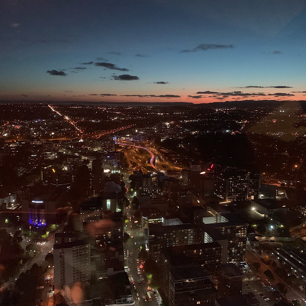 The view from Auckland's Sky Tower.
