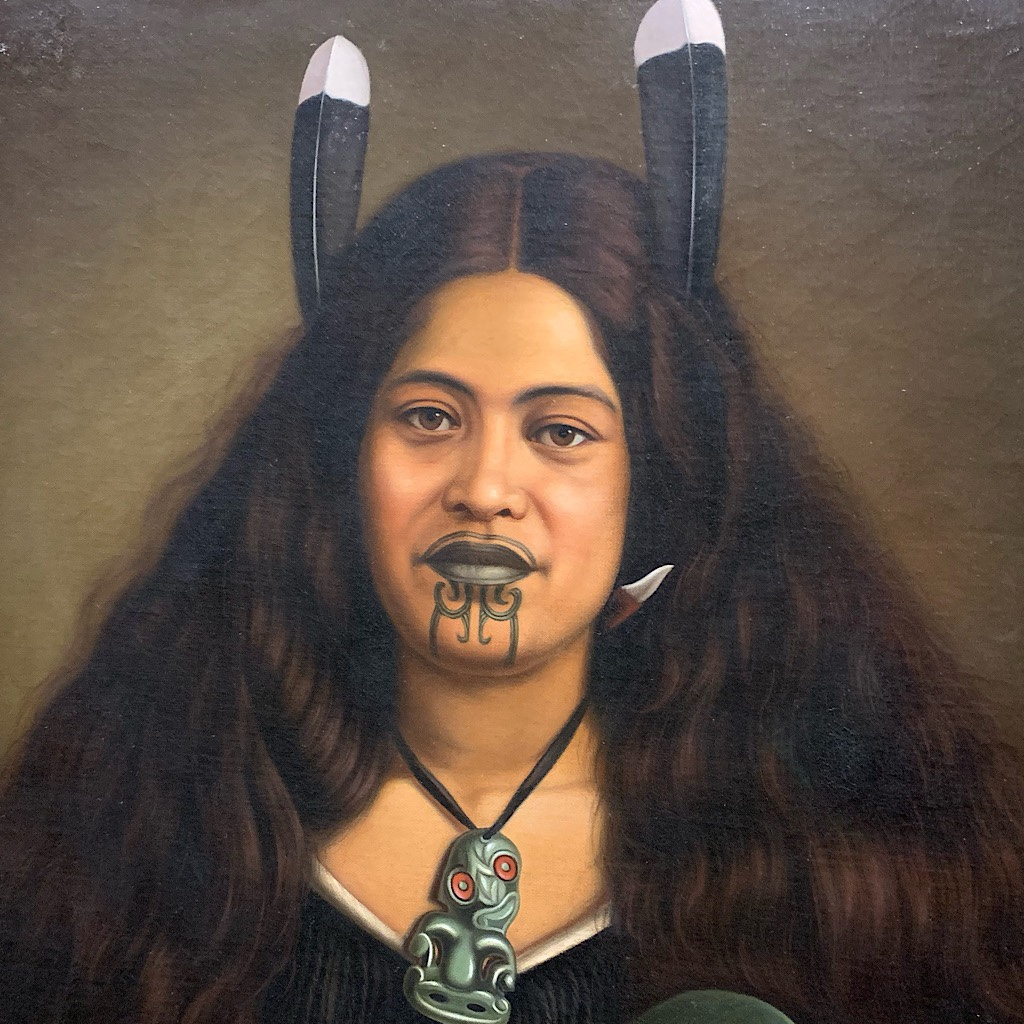 A portrait of a Maori woman by Gottfried Lindauer in the Auckland War Memorial Museum.