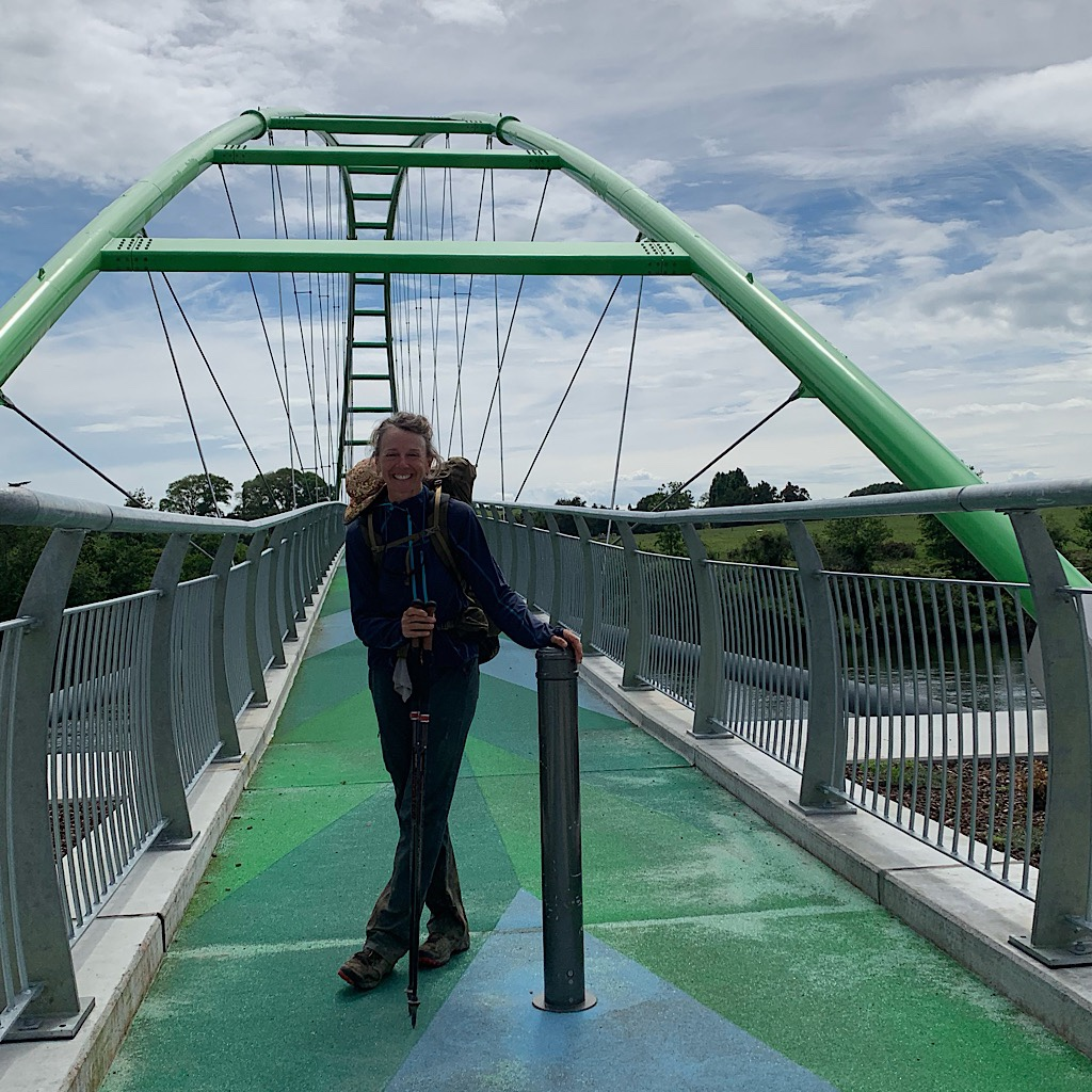 The beautiful Perry Cycle Bridge on the Te Awa Cycleway.