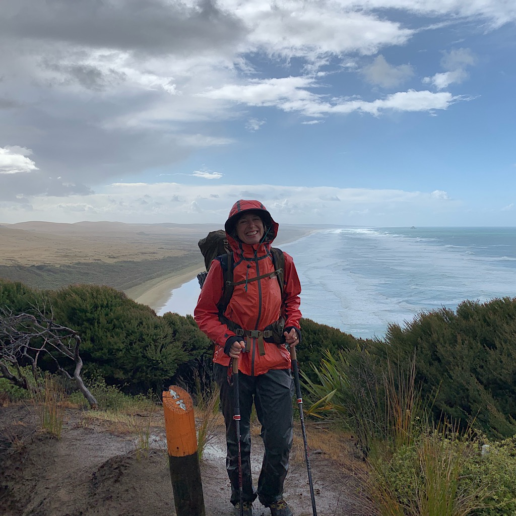 The cliff above Ninety Mile Beach, a relentless expanse of sand walked for three solid days.