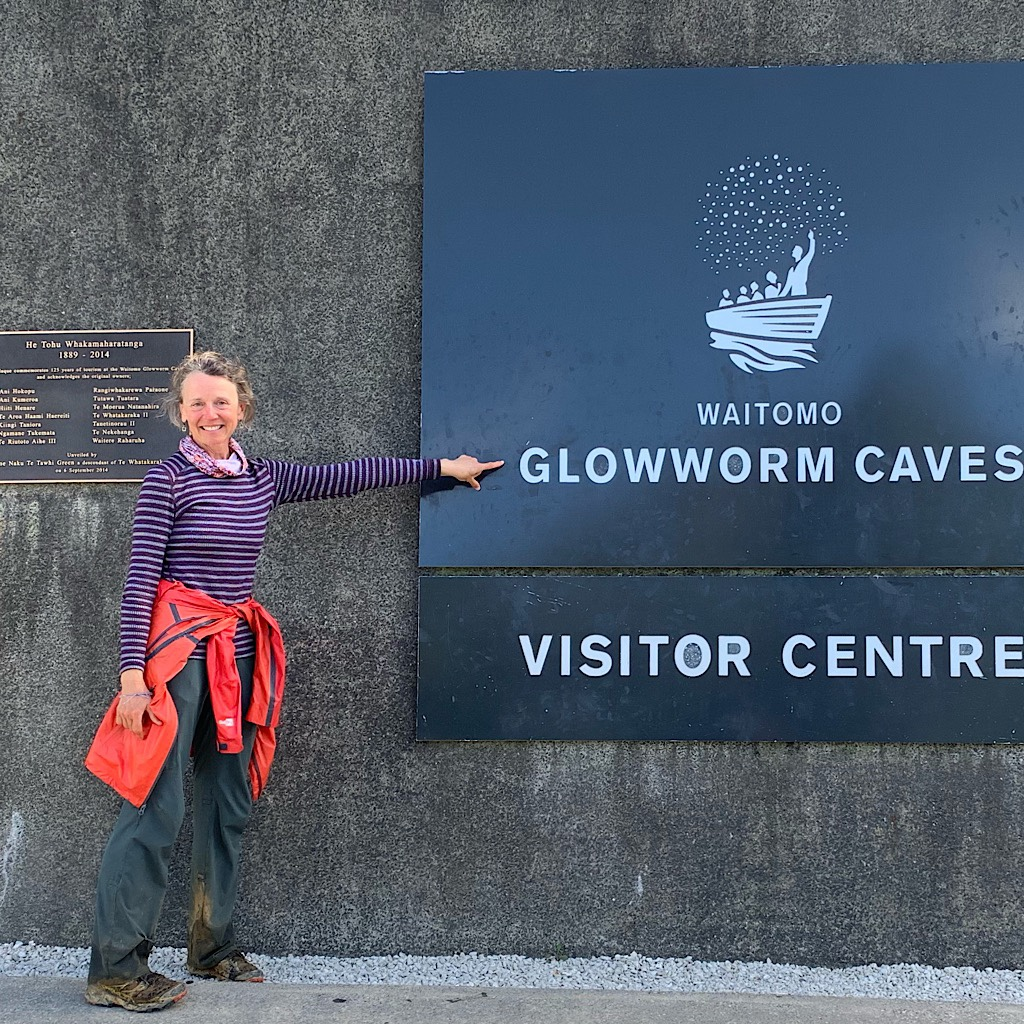 At the end of the day, I celebrated with a touristy visit to the Glowworm Caves in Waitomo.