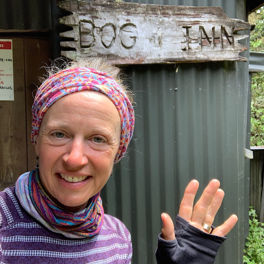 A side trip took me off trail to the Bog Inn, a rough and tumble hut with resident rats.