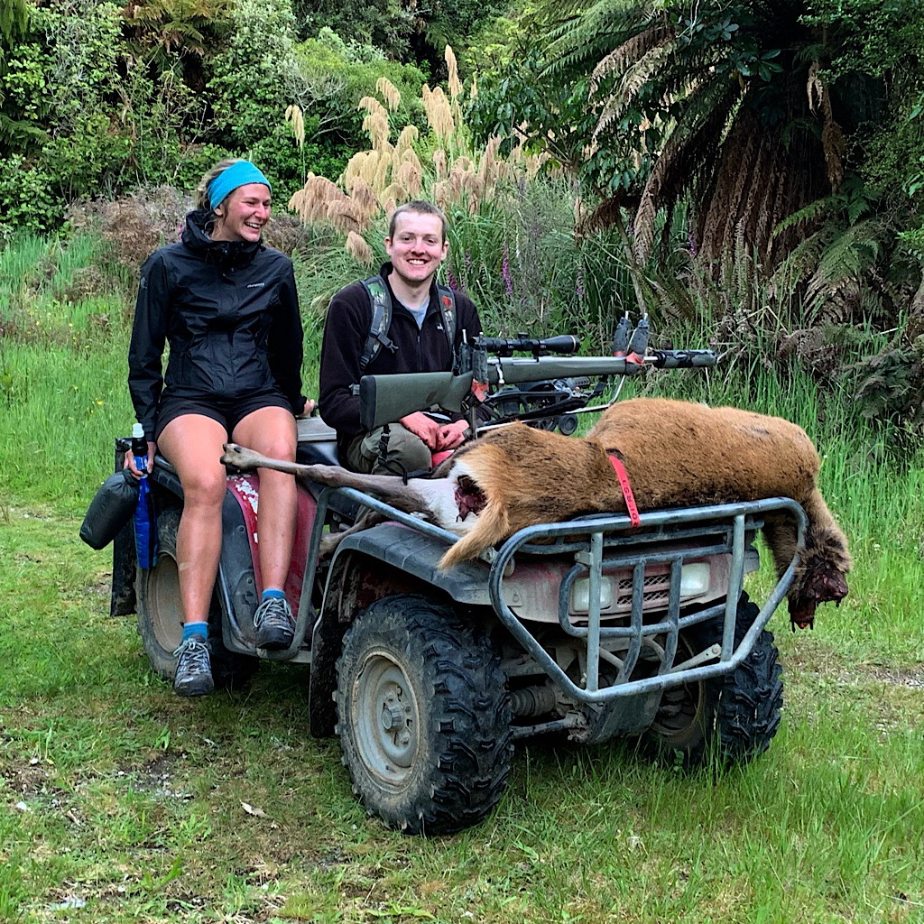 """There is no """"season"""" on killing invasive species in New Zealand. This hunter gave Vera and me the tastiest bits."""
