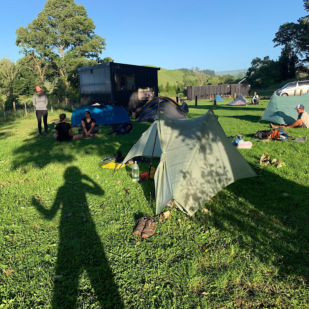 The campsite at the terminus with a beautifully built shelter specifically for Te Araroa hikers.