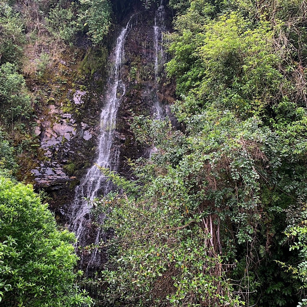 One of numerous waterfalls along the steep-sided cliffs of the 42 Traverse.