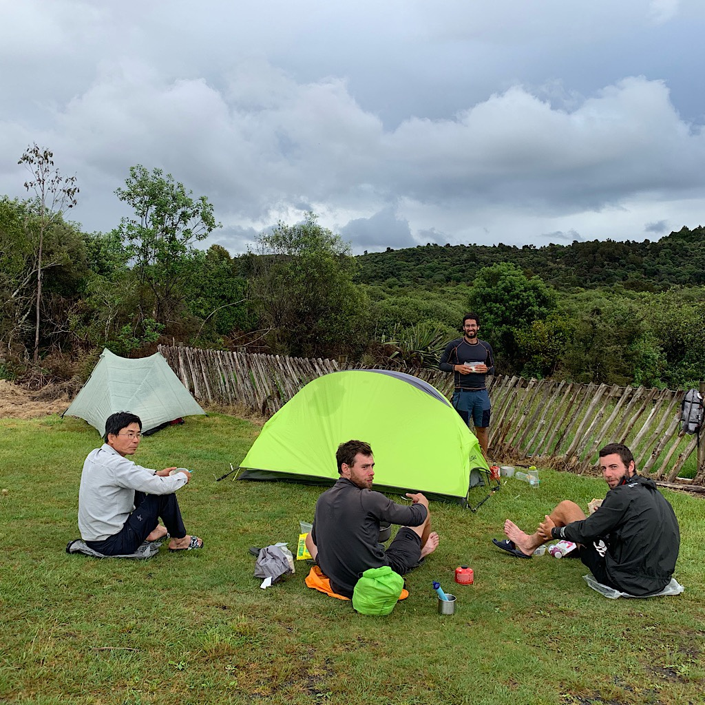 David, Bojan, Marko, and Alexis at the campsite. I'm not entirely sure what they made of me.