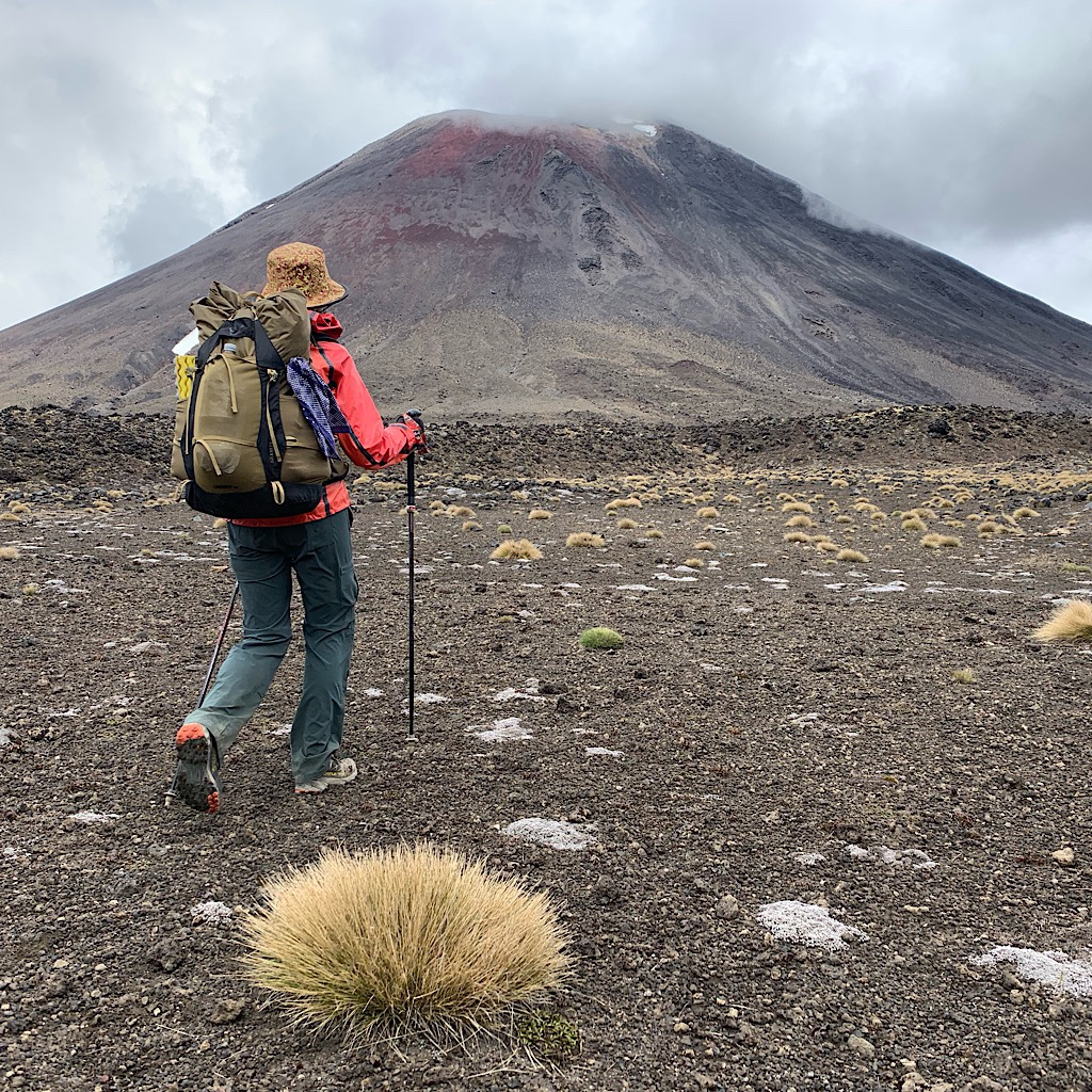 Walking towards Ngauruhoe or Mount Doom.