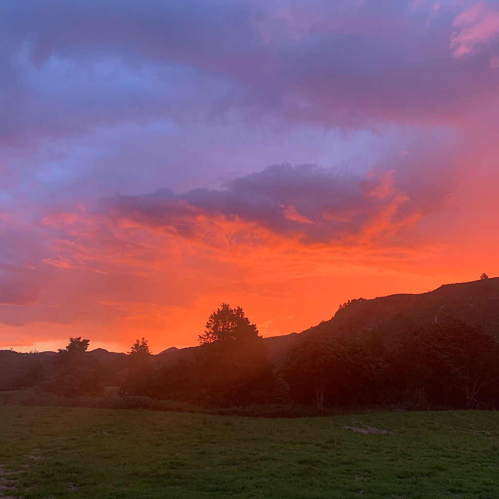 The first of many spectacular sunset events only seen at these latitudes and in New Zealand's changeable weather.