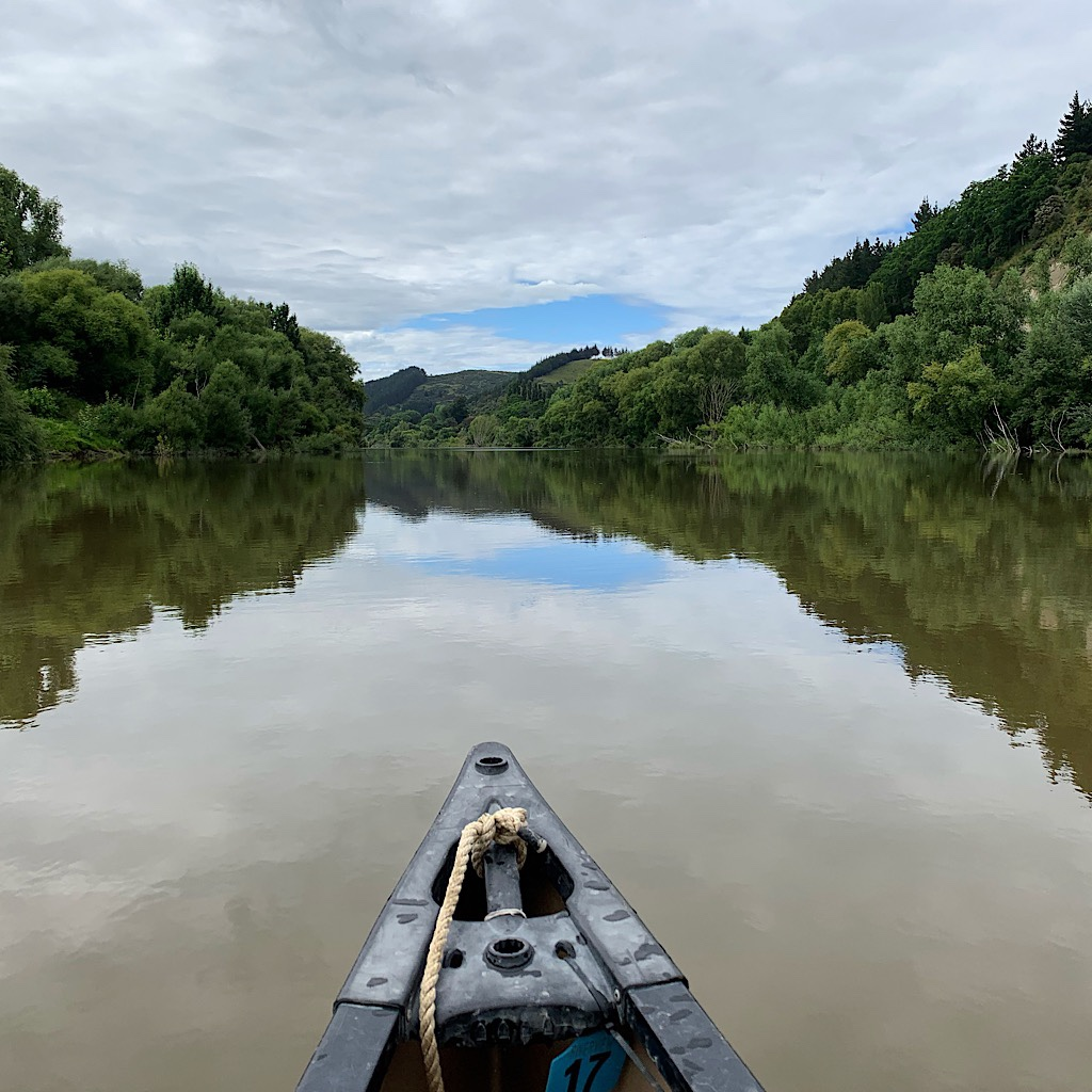 The serene calmness of the Whanganui that masked the ever so slight pull towards the Tasman Sea.