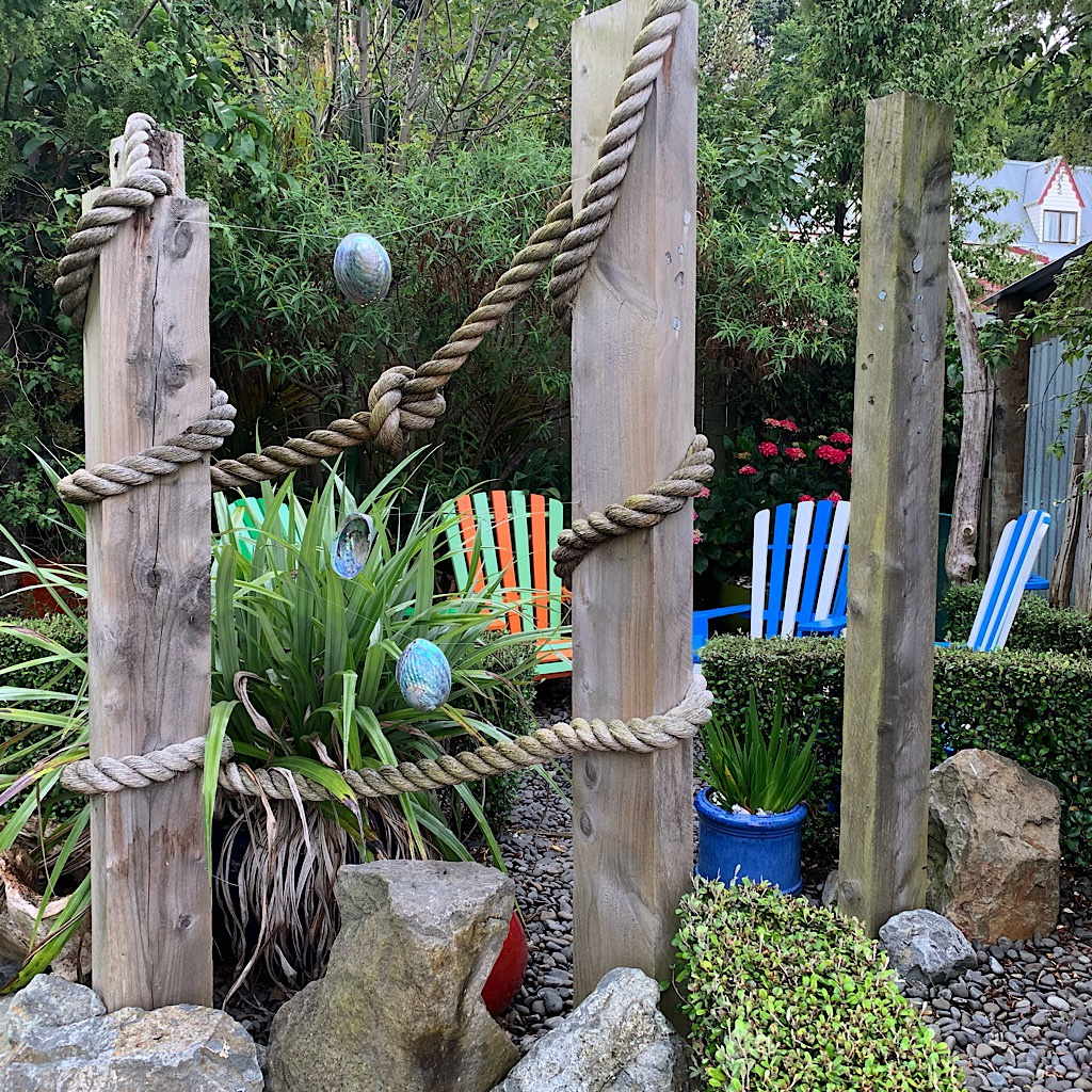 Curiosities abound in Rob and George's back yard.