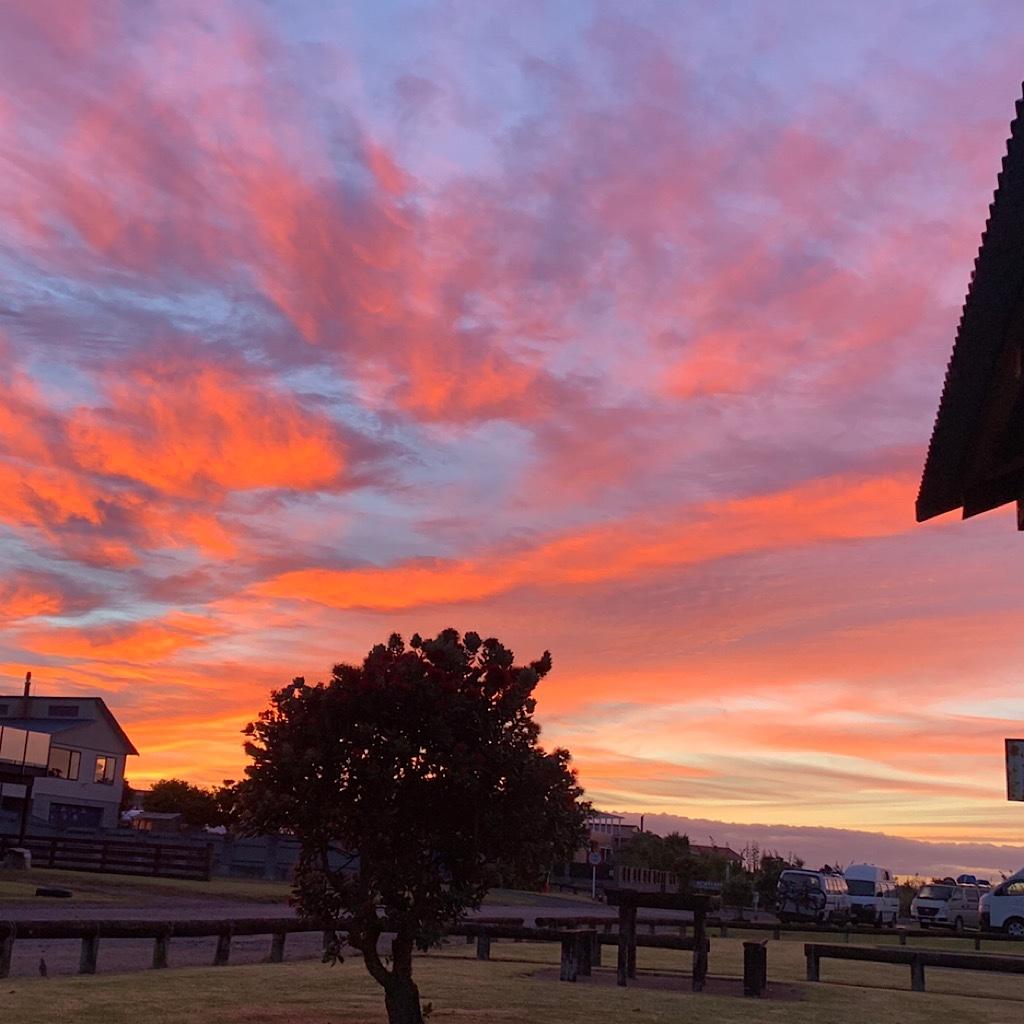 Sunrise from the alicoop at Koitita Mtor Camp.