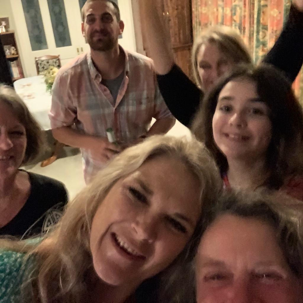 Dancing on Christmas Eve with Rob, Tara and their family.
