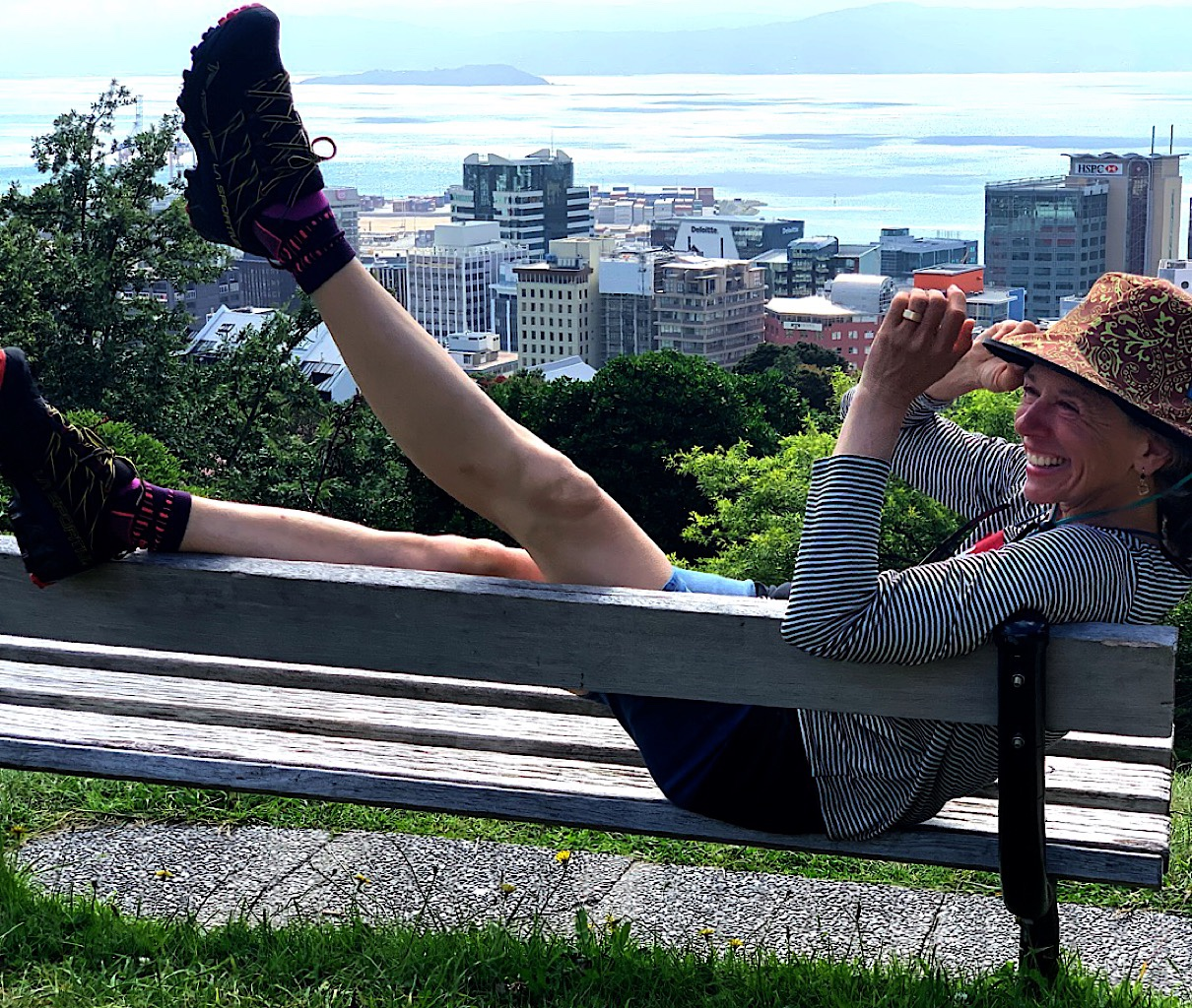 Vogueing with my new shoes above Wellington.