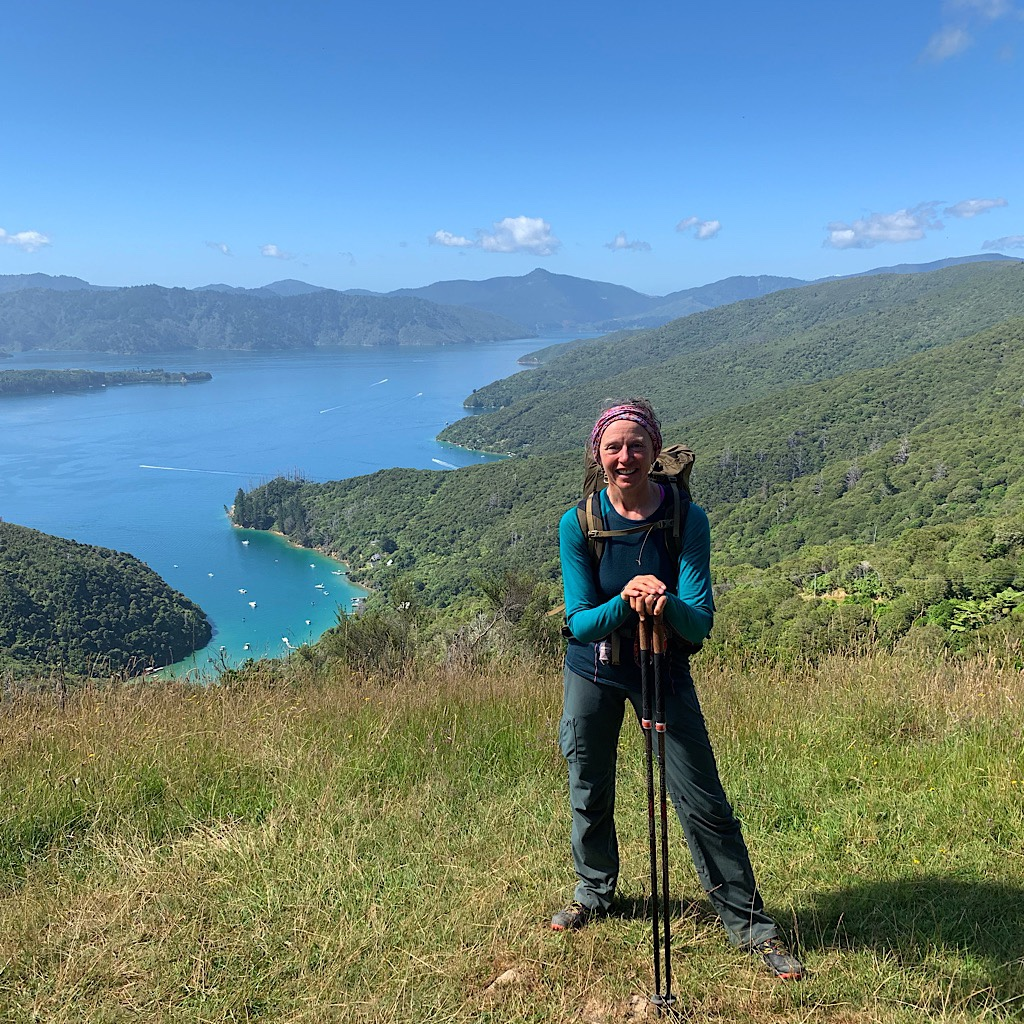 Blissful above the Kenepuru Sound on the Queen Charlotte Track.