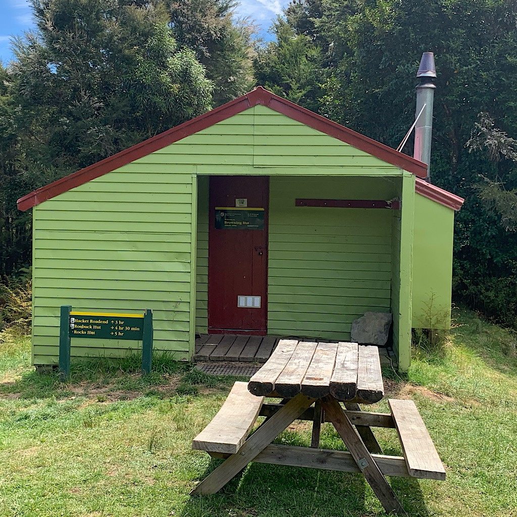 The squat Browning Hut where I met Floris and Marjolein again before dropping into Nelson.