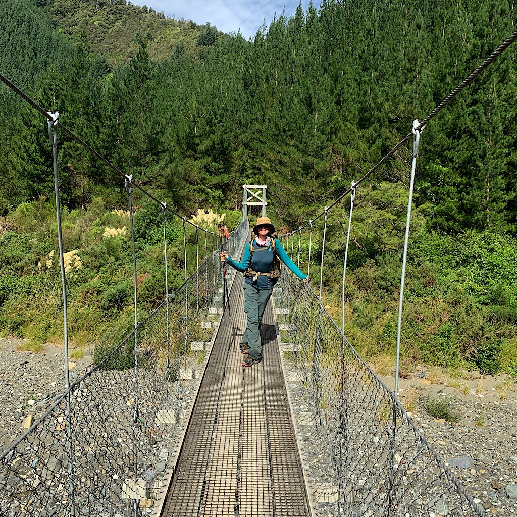Crossing the bridge to Hacket Picnic Area where Steve met me to bring me into Nelson for a few days.