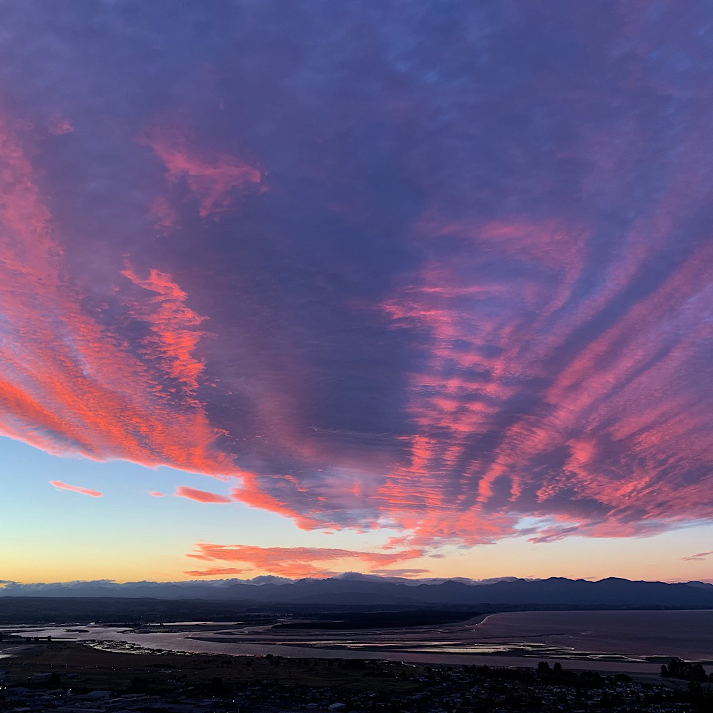 A glorious sunset over Waimea Inlet.