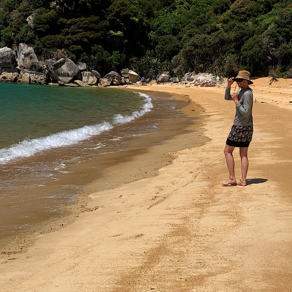 A golden beach and a cove all to ourselves for the afternoon.