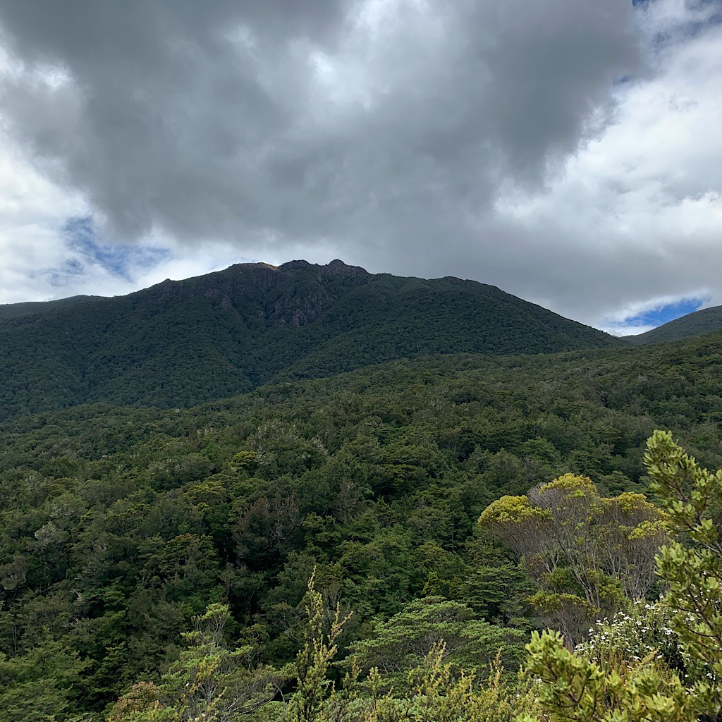 The clouds look ominous as I climb up onto the ridge, but I had fantastic weather through the entire range.
