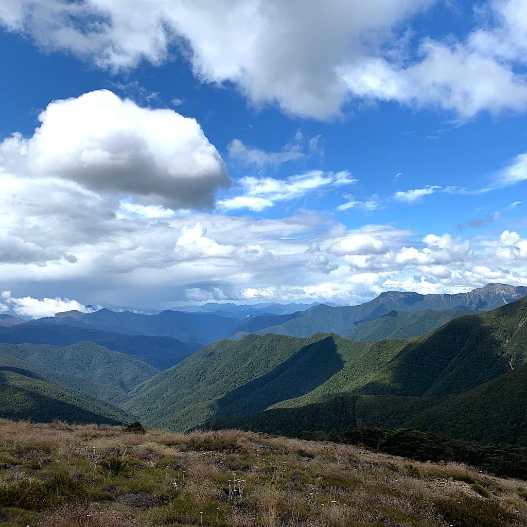 Cloud shadows in the Richmond Range.