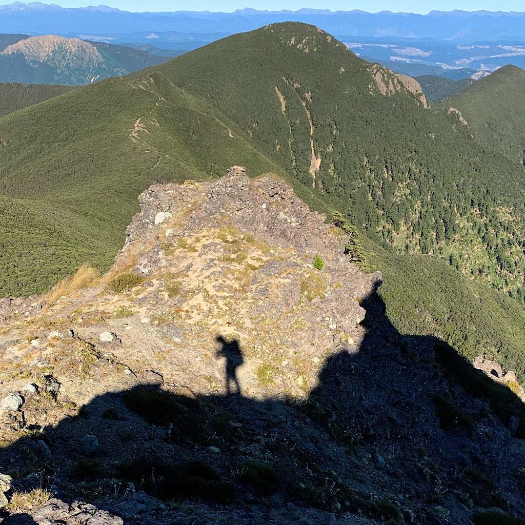 My lone self working along the ridge.
