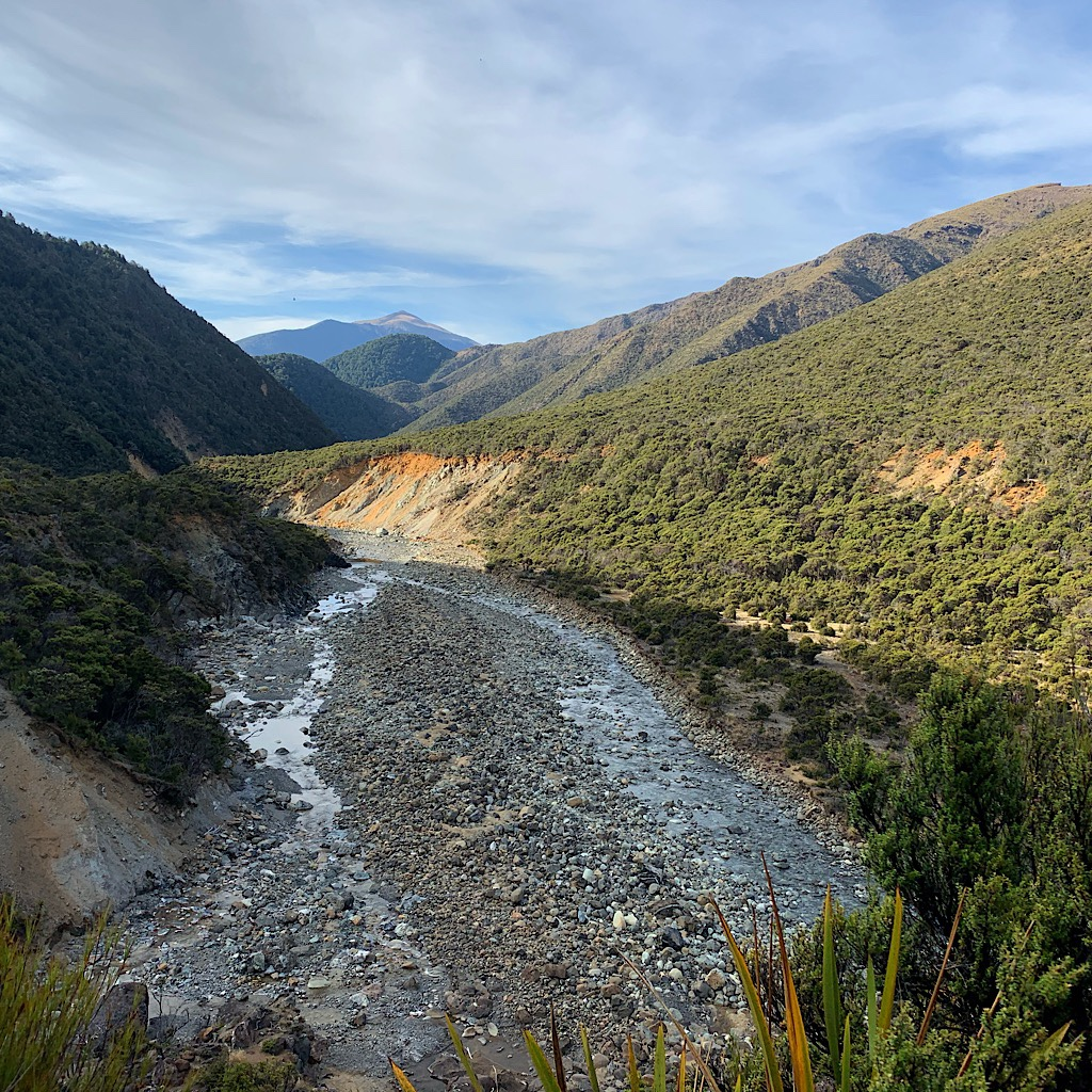 One of the side creeks to cross that feed into the Motueka River.