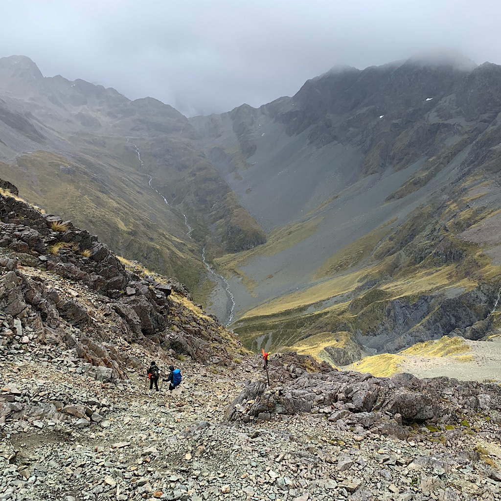 The descent was far more difficult and required some careful downclimbing.