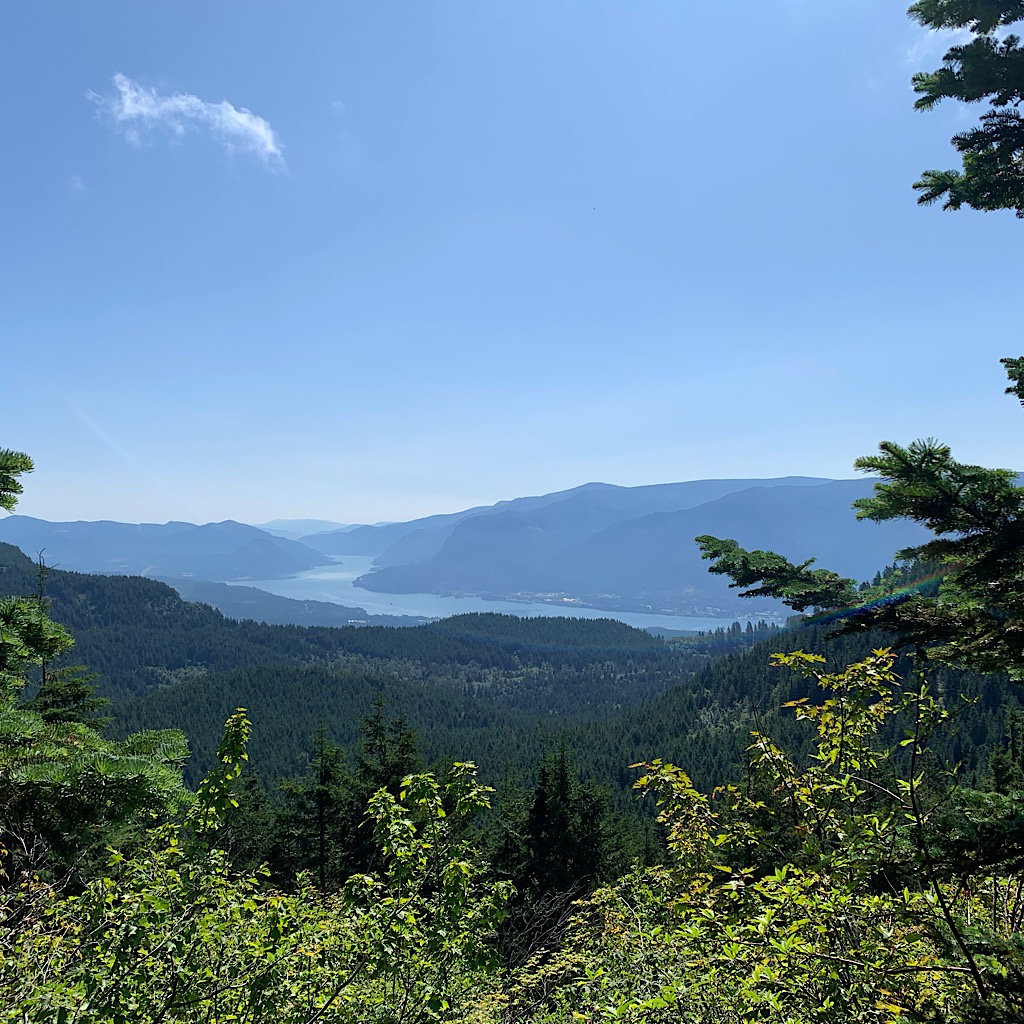 The first glimpse of the Columbia River, with Oregon beyond