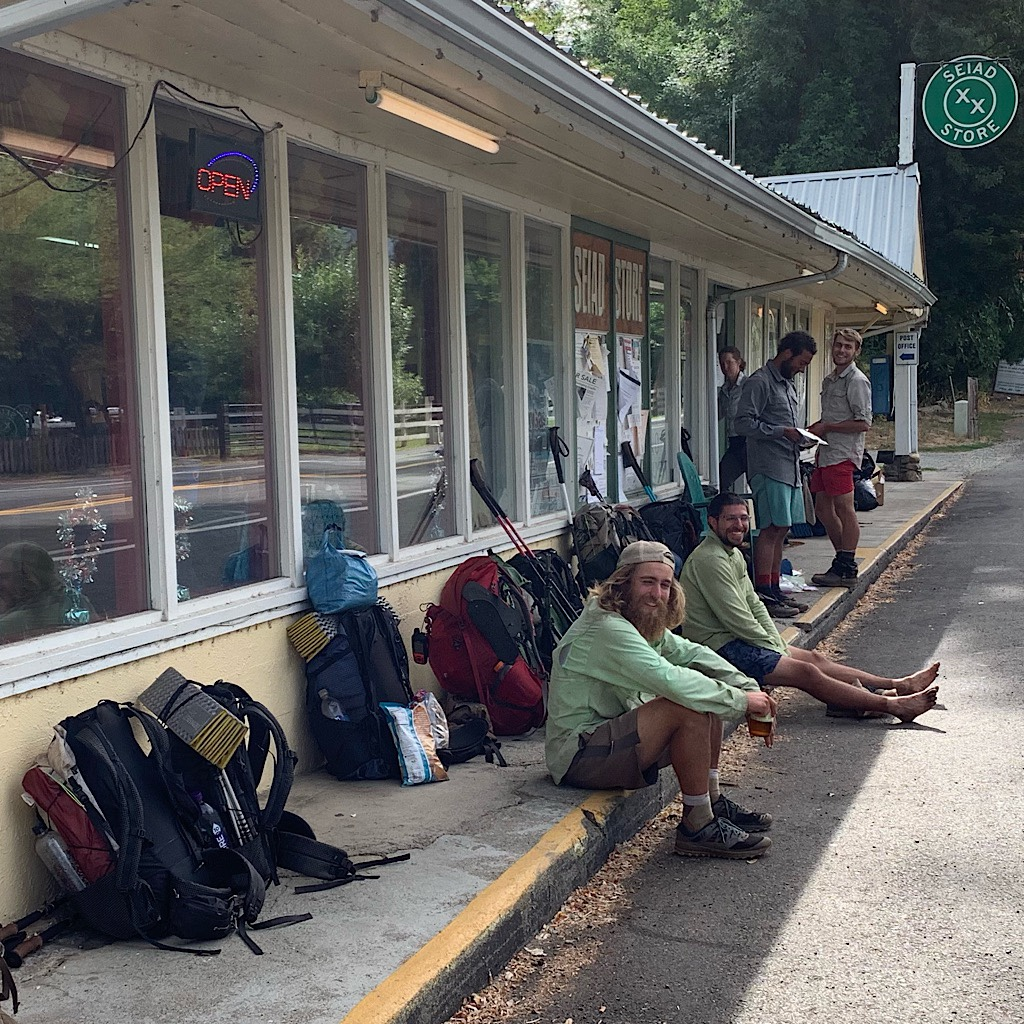 Thru-hikers taking a load off at the Seiad Store. I hopscotched with them all the way from the start.