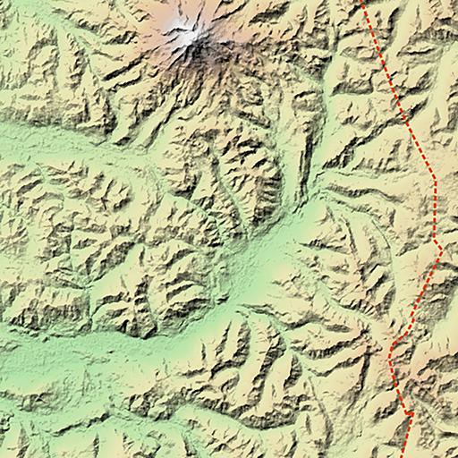Mount Rainier near the Pacific Crest Trail