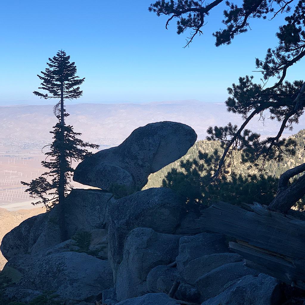 Balancing rock nearly 10,000 feet above Palm Springs.