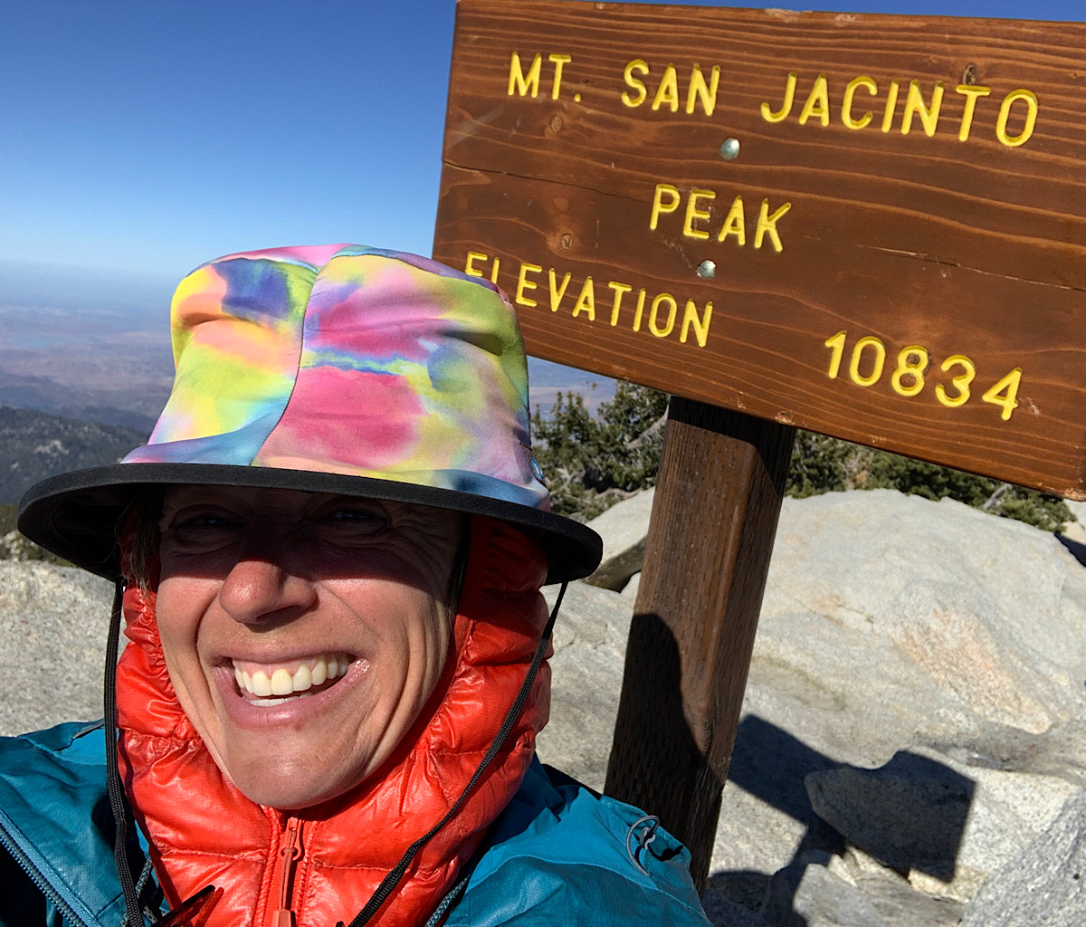 It was hard work getting to the top of San Jacinto Peak, a surprisingly huge mountain in Southern California.