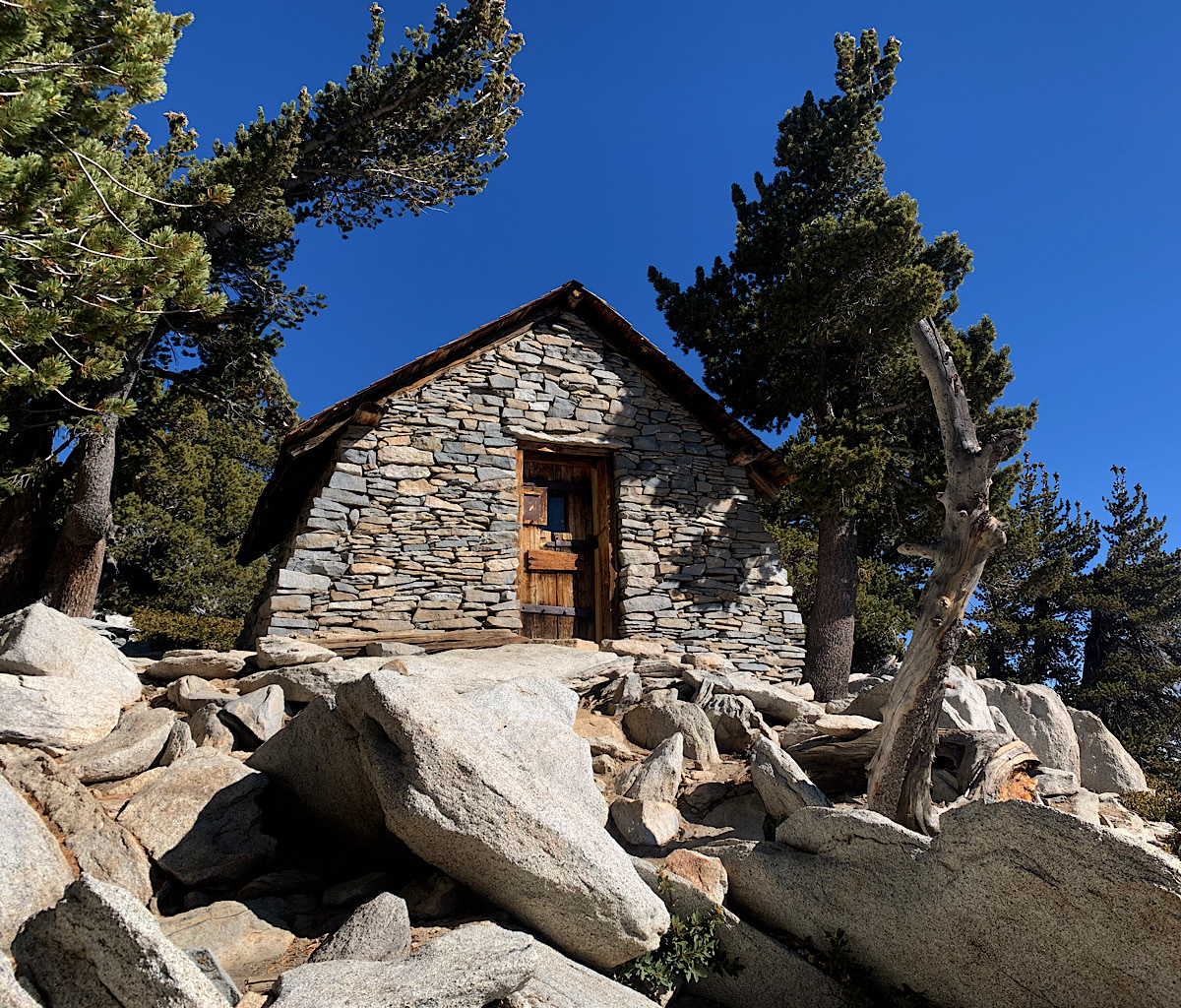 The beautiful CCC emergency hut near the summit of San Jacinto Peak.