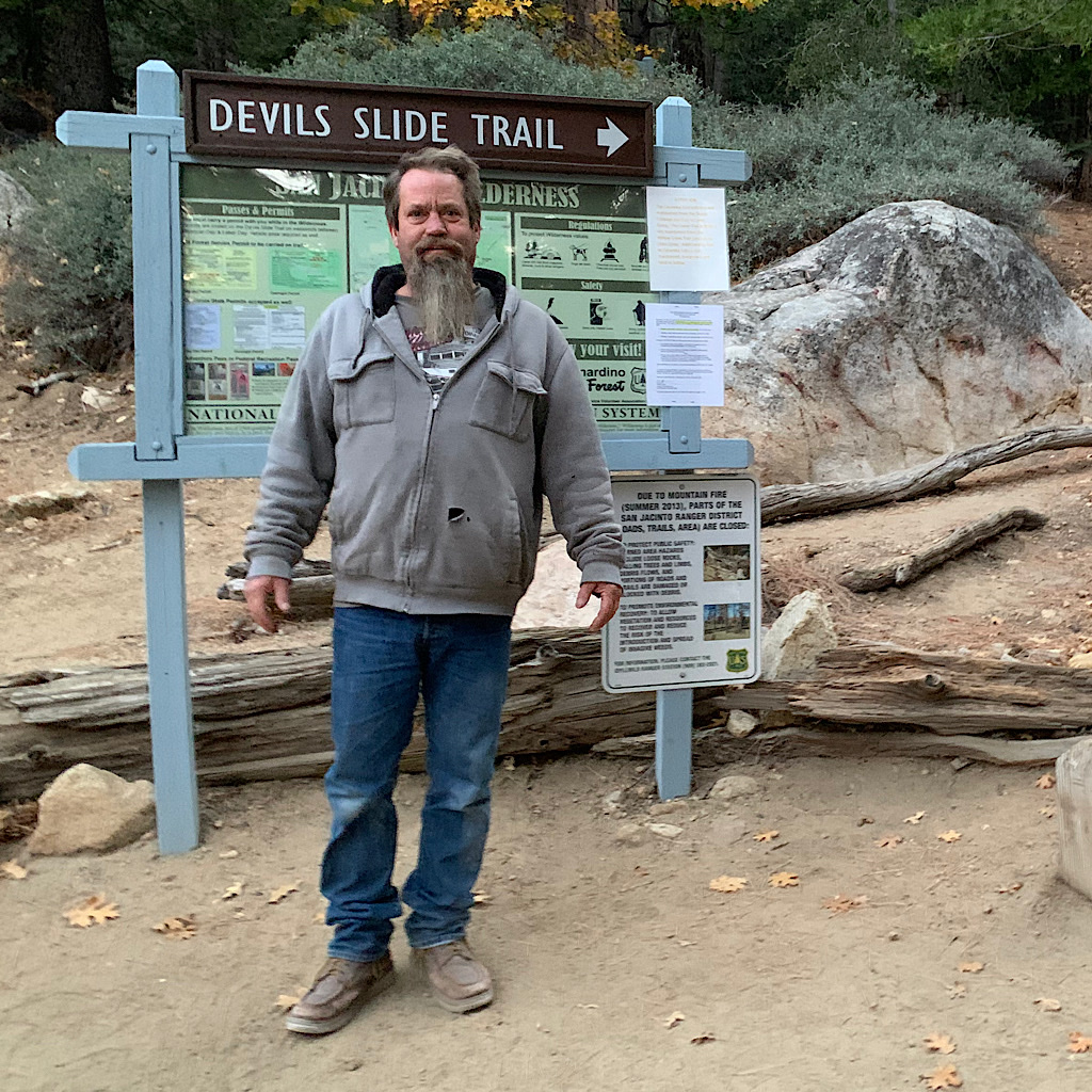 Handyman Dean dropped us off at the Devils Slide Trailhead to retrace our steps straight up to the ridge.